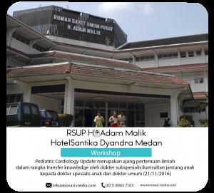 Conference Live 2 lokasi RS adam malik dan Hotel Santika medan